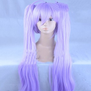 濃い紫色の髪プリパラコスプレウィッグ真中らぁらダブルポニーテール