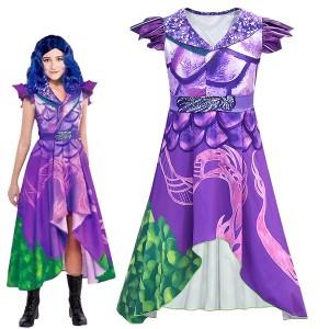 明るい紫ハロウィンコスプレ衣装ディセンダント3