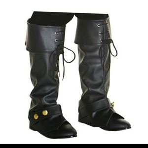 暖かい汚染防止アサシン クリード靴カバー黒のハロウィーン