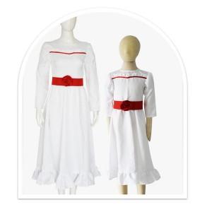 ホラー奇妙なアナベル 死霊館の人形2コスプレ衣装ハロウィーンの女性
