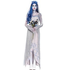 ホラーオフホワイト女性の幽霊衣装ハロウィンゾンビの花嫁