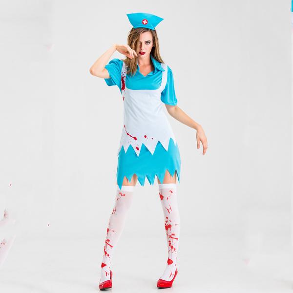 ハロウィーンの女性看護師の衣装オリジナルデザイン