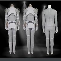 スタイリッシュな白バルキリーコスプレ衣装靴なしのフルセット