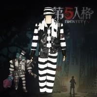 ゼブラストライプ第五人格ジョーカー 囚人コスプレ衣装カスタム