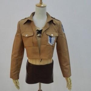 ジャケット男性と女性の小さなコートのcosplay衣装進撃 の 巨人