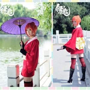 着物安い銀魂神楽cosplayコスチューム卸売り