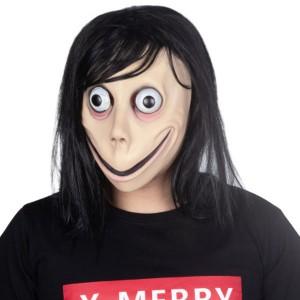 怖いMOMOゲームマスクホットハロウィーン女性ゴーストマスク